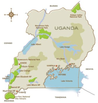 Africa maps, Tanzania Travel Map