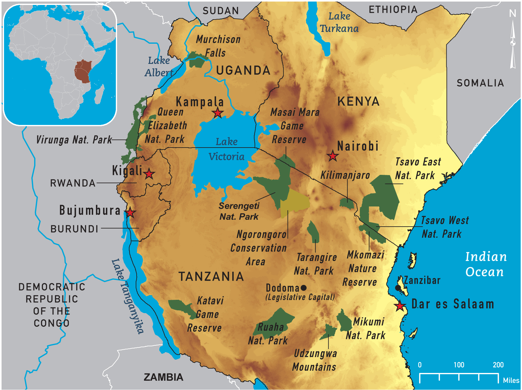 south and east africa map games